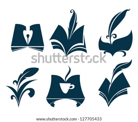 Vector Collection Old Books Parchment Poetry Stock Vector Royalty