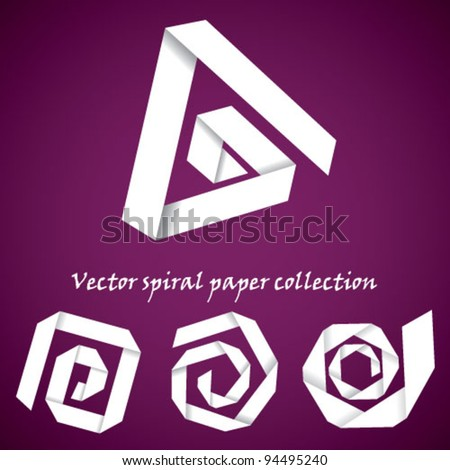 Vector collection of paper spirals
