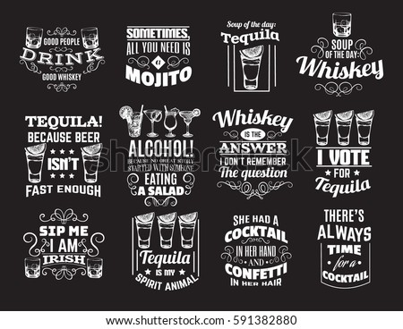 Alcohol stock images royalty free images vectors for Cocktail quote