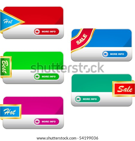 Vector collection of sale banners.