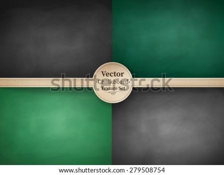 Vector collection of school chalkboard backgrounds. - stock vector