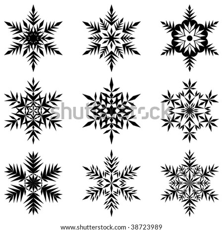 vector collection of snowflakes