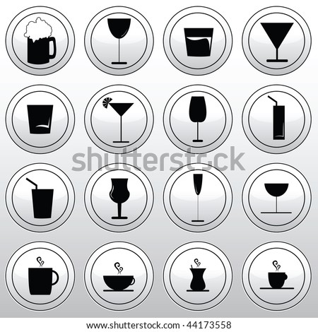 vector collection of various glasses