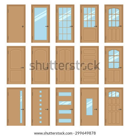 Different types doors stock images royalty free images for Types of wood doors are made of