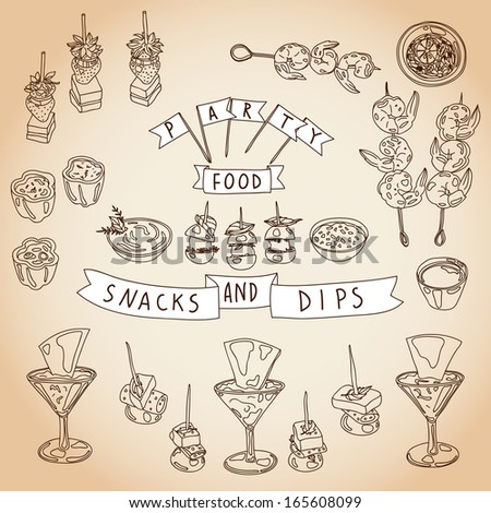Canape vector download canape snacks vector illustration for Canape vector download