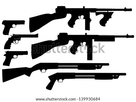 vector collection of weapon - stock vector