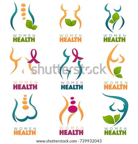 Vector Collection Women Health Care Symbols Stock Photo Photo