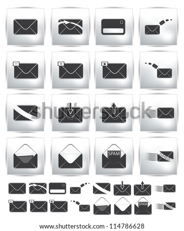 Vector collection web icon. Set pictogram - stock vector