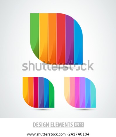 Vector color abstract logo  elements. Origami. Corporate identity. - stock vector