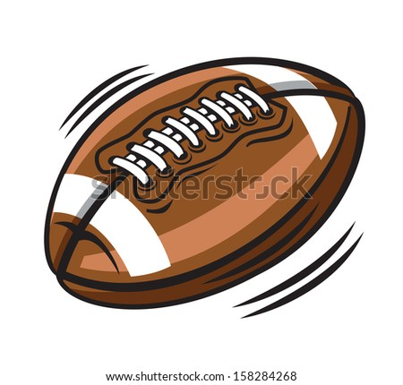 vector color american football on white background - stock vector