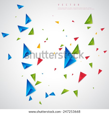 Vector color background abstract polygon triangle. polygonal design geometrical - stock vector