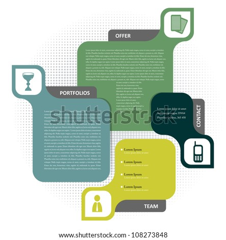 Vector color background concept design for brochure or website - stock vector