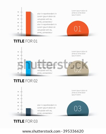 vector 3 color background for business statistics, summary / infographic template pack - stock vector