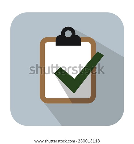 vector color Clipboard icon on white background - stock vector