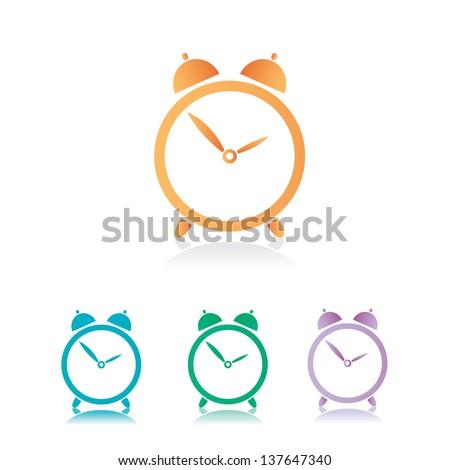 vector color clocks Icons set - stock vector