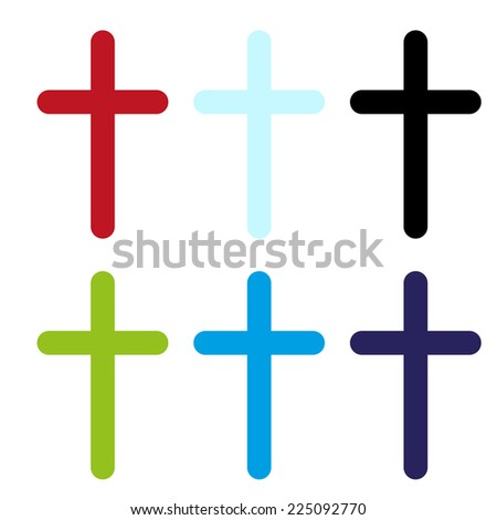 vector color crosses