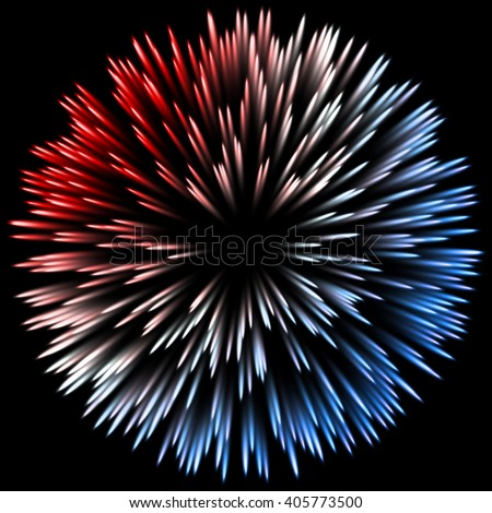 Vector color design with a burst. Holiday fireworks - stock vector