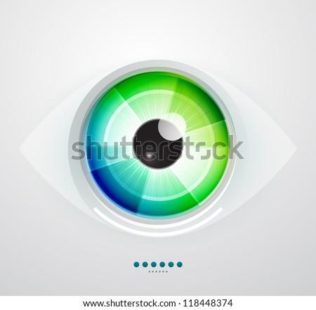 Vector color eye design. Hi-tech concept - stock vector