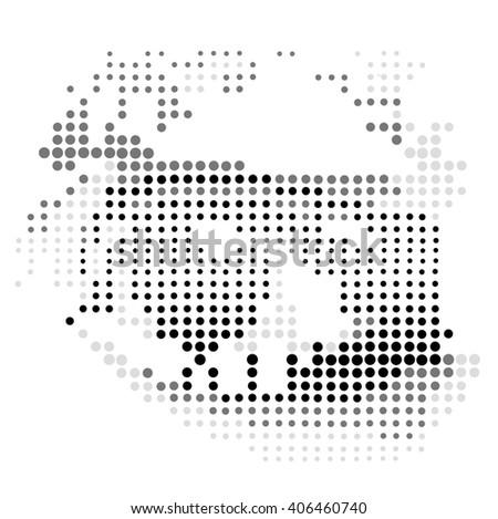 Vector Color Halftone Eye.Color Halftone.Eye.Color halftone Eye.Polka Dots Vector Eye isolated on White Background.Retro Eye.Black and White Eye.Look.Looking Eye. - stock vector