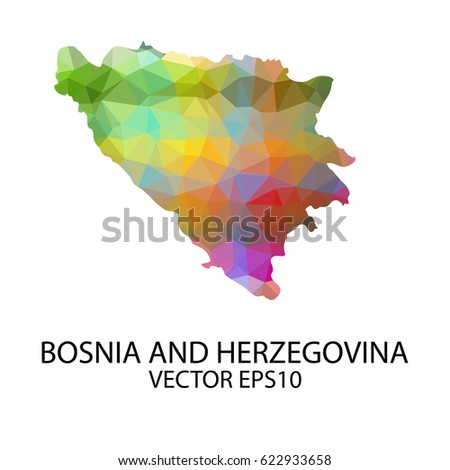 Vector color map of bosnia and herzegovina, Vector illustration eps 10.