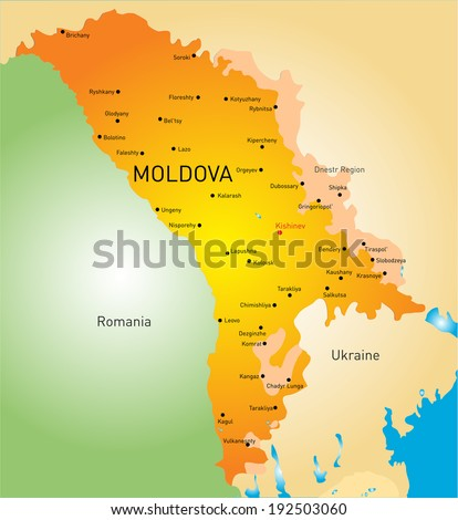 vector color map of Moldova country