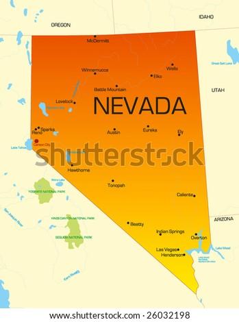 Nevada Usa Map Afputracom - Las vegas nevada usa map
