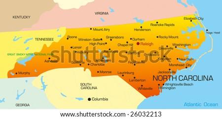 North Carolina Map Stock Images RoyaltyFree Images Vectors - North carolina map usa