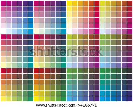 Vector color palette - stock vector