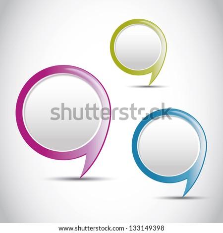 Vector color round pointer, button - stock vector