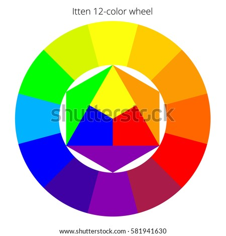 Vector Color Spectrum With Ittens Twelve Colors Wheel RBG Palette Scalable Chart On A