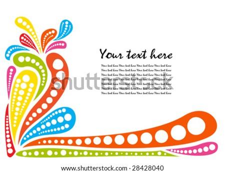 vector color splash in white background - stock vector