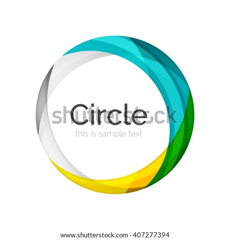 Vector color swirl shape icon or abstract background - stock vector