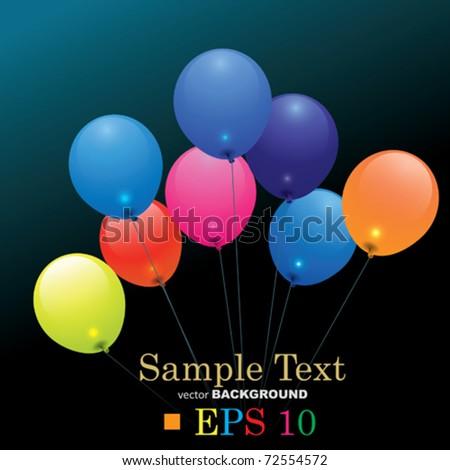 Vector Colored Balloons - stock vector