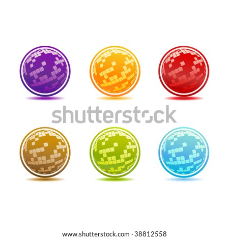 Vector colored buttons.