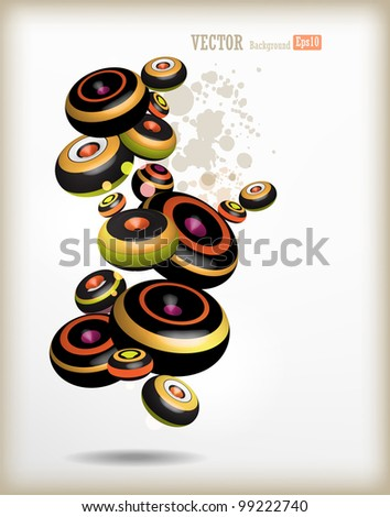 Vector colored circles for design - stock vector