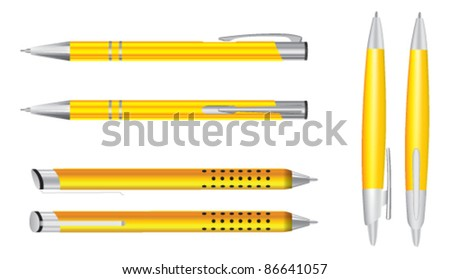 Vector colored pens - stock vector