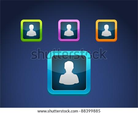 Vector colored person icon set. - stock vector