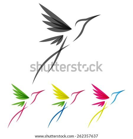 CLUSTERX's Portfolio on Shutterstock Hummingbird Vector Logo