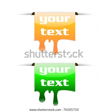 Vector colored tag bookmarks - stock vector