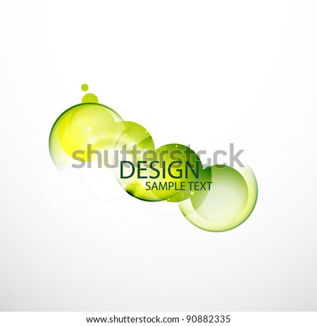 Vector colorful abstract bubble - stock vector