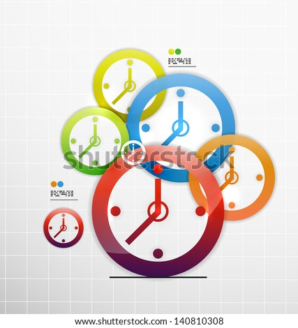 Vector colorful abstract 3d paper background - stock vector