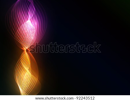 Vector colorful abstract plasma background for your design