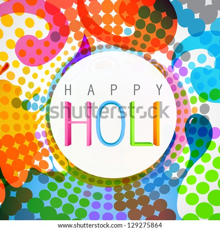 vector colorful background of holi festival