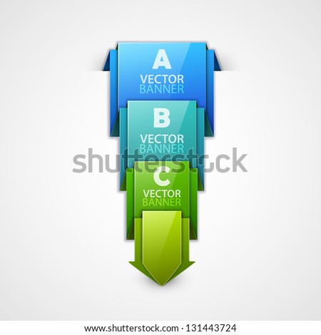 Vector colorful banner - stock vector