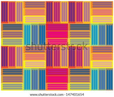 vector colorful blocks pattern wallpaper - stock vector