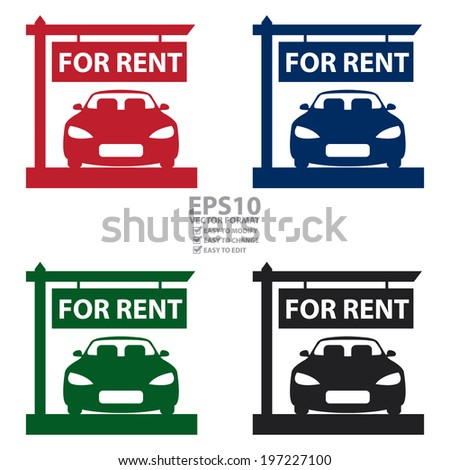 Vector Colorful Car Showroom Car Sale Stock Vector 198564587