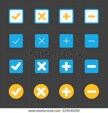 Vector colorful confirm icons set