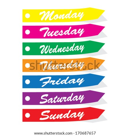 Days Of The Week Stock Photos, Royalty-Free Images & Vectors ...