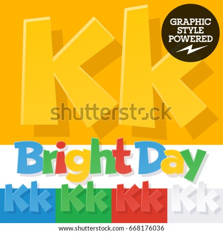 Vector Colorful Funny Alphabet Contains Different Stock Vector