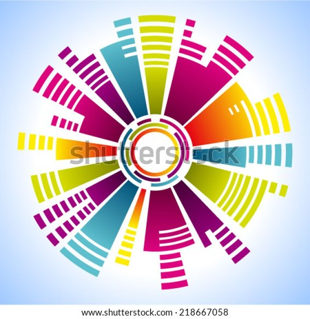 Vector colorful geometric  - stock vector